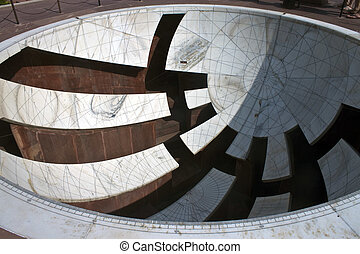 Astrological and astronomical instrument at Jantar Mantar,...