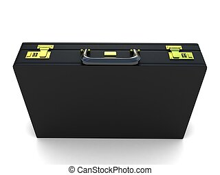office briefcase - three dimensional isolated office...