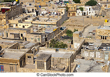 Roofs of Jaisalmer, city in Rajasthan, India