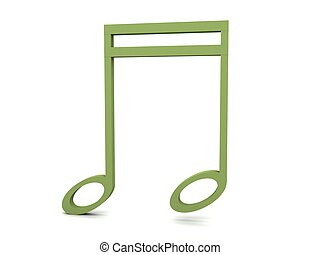 three dimensional green clef notation
