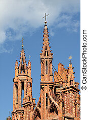 Gothic towers, Vilnius,  Lithuania.