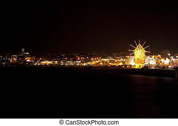 Old Nessebar. Night cityscape.