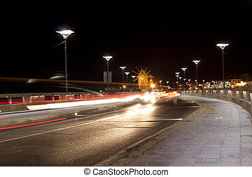 Old Nessebar. Night cityscape.