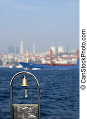 sightseeing on bosporus - Close up of bell on sightseeing...