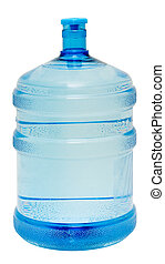 Large bottle isolated - A large bottle of pure water on a...