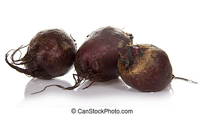 Three beets - Beet isolated on white