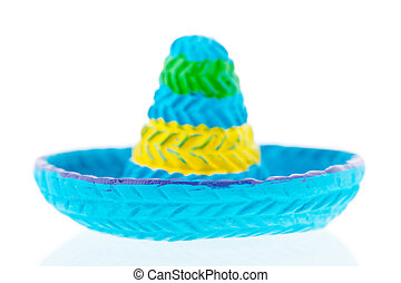 Blue sombrero isolated over white background