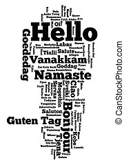 Hello Word cloud - Background concept word cloud...