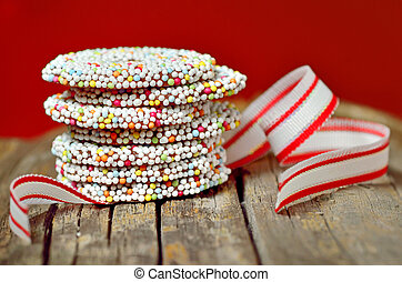 Christmas chocolate Sprinkle and ribbon