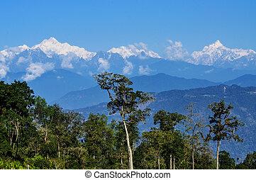 Kanchenjugha Mountain Range, Sikkim - Kanchenjugha Mountain...