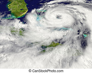 Hurricane - Huge hurricane approaching Florida in America....