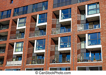 Facade of an apartment building - Facade of a modern...