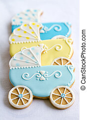 Baby shower cookies - Cookies decorated for a baby shower