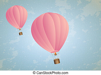 airballoons - cute airballoons over lineal background vector...