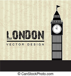 london design over lineal background vector illustration