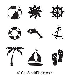 summer design - summer design over white background vector...