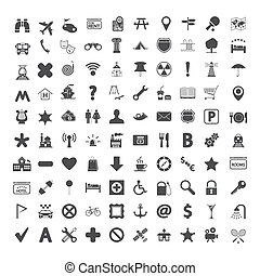 Navigation map icons. - Navigation map icons set. Vector...