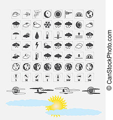 Weather icons - Weather Icons for day and night forecasting,...