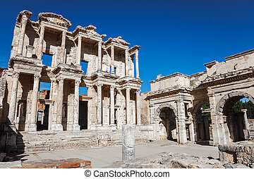 Library of celcus - Ephesus library in ancient ephesus,...