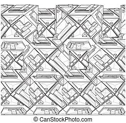 tetraedro, construcciones, estructura