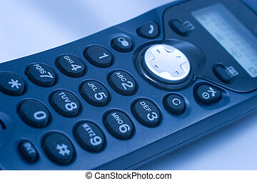 Phone keypad - Close-up of phone keypad (shallow DOF, blue...