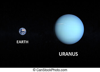 Planets Earth and Uranus - A comparison between the planets...