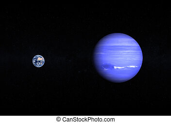 Planets Earth and Neptune - A comparison between the planets...
