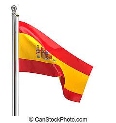 spanish flag isolated on white background
