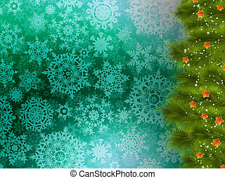 Christmas background with tree. EPS 10