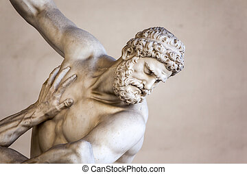 Hercules Beating the Centaur Nessus - An image of Hercules...