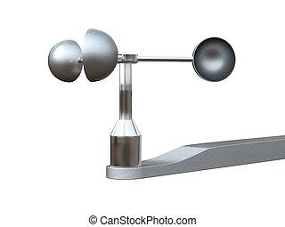 medición, anemómetro, Dispositivo, velocidad, viento