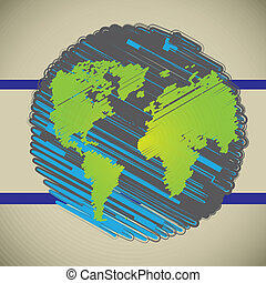 Earth planet over gray background Vector illustration