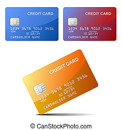 Realistic vector Credit Card - Realistic vector illustration...