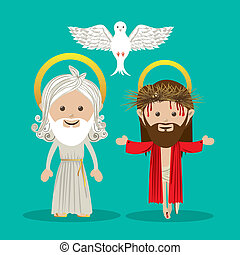 holy design over blue background vector illustration