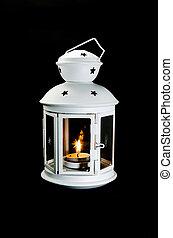 white lamplight - Light in white lamplight on dark...