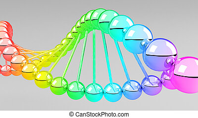 Digital illustration of dna structure in 3d.