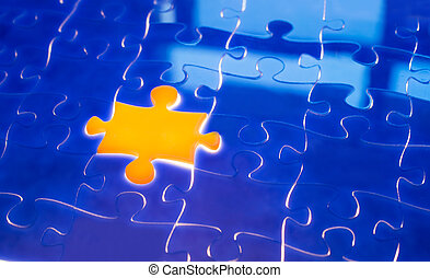 Light irradiation Jigsaw - Missing jigsaw puzzle with ray of...