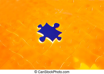 Light irradiation Jigsaw - Jigsaw Puzzle with the missing...