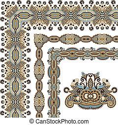 floral vintage frame design. Vector set. All components are...