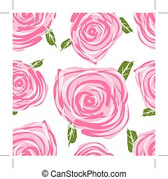 Seamless pattern with roses for your design