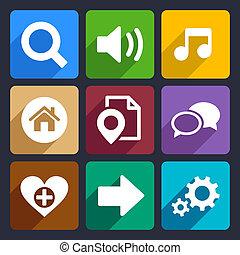 Multimedia flat icons set 4