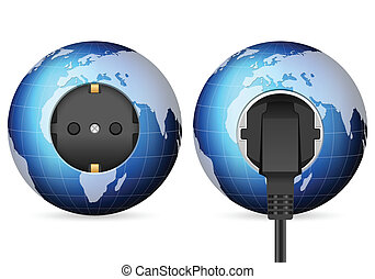 blue world globe outlet socket