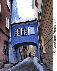 Blue Gate in Warsaw - Blue Gate in the old town of Warsaw,...