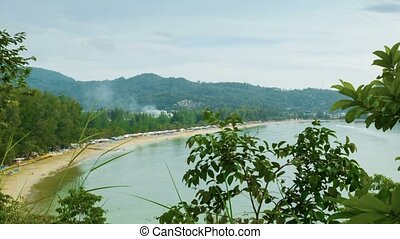 General view of Kamala Beach. Phuket Island. Thailand -...