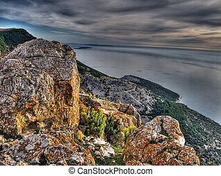 Adriatic sea - View of the Adriatic Sea from the island of...