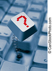 Computer Key Springing Up With Question Mark