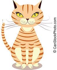 Cartoon red cat