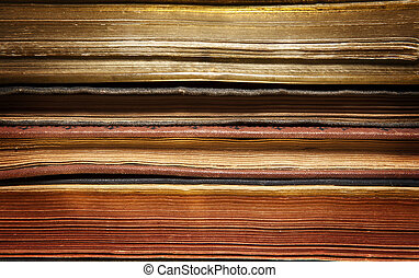 Aged books background - Some aged books stacked parallel