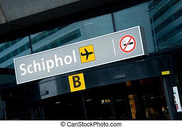 shiphol, międzynarodowy, lotnisko