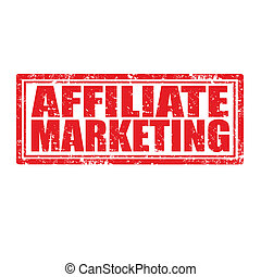 Affiliate Marketing-stamp - Grunge rubber stamp with text...